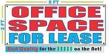 OFFICE SPACE FOR LEASE Banner Sign NEW Larger Size Best Quality for the $$$