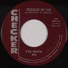 TAB SMITH: Because of You R&B Instrumental 45 VG+ Sheldon HEAR