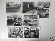 7 VINTAGE PHOTOGRAPHS 1970S E.L.S FURNITURE STORE INTEREST RETRO 21.6 X 16.5CM A
