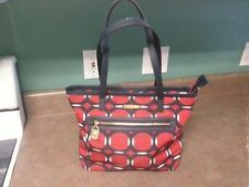 Micheal Kors Red & Navy Blue Tote Purse