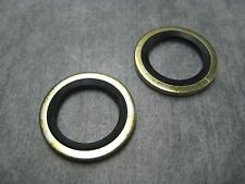 16mm Oil Drain Plug Gasket Washer - Metal/Rubber - Pack of 2 - Ships Fast!