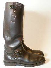 Vtg REDWING Snakeproof Biker Hunting Birding Outdoor Sport Leather Boot Men 9.5