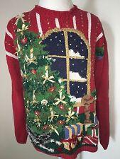 Vintage Tiara International Women's Sweater Large Ugly Christmas Sweater Tree