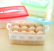Double Layer Refrigerator Food 24 Eggs Airtight Storage container plastic Box