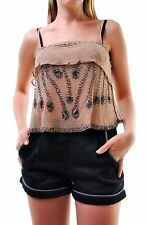 Free People Women's Embellished Camisole Top Nude Size XS RRP £82 BCF66