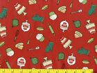 Small Cakes & Cupcakes on Red Quilting Fabric by Yard #726
