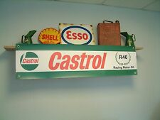 Castrol R racing oil workshop or garage vintage style advertising banner,sign
