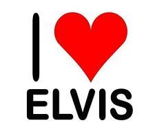 Elvis # 12 - 8 x 10 Tee Shirt Iron On Transfer I Love Elvis