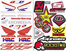 2SH. HRC HONDA WING RACING CRF ROCKSTAR STICKER DIE-CUT AUTO MOTOR BIKE SPORTS