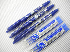 3 pens + 6 refill PILOT Eraser/FriXion 0.7mm rollerball pen/with cap Blue(Japan