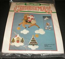 Bucilla Plastic Canvas Christmas OVER THE ROOF TOP Mobile Kit 61085 Dick Martin