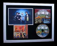 ALL TIME LOW+SIGNED+FRAMED+DON'T PANIC+HEARTS=100% GENUINE+EXPRESS GLOBAL SHIP