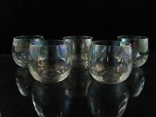 West Virginia Glass Specialty Iridescent Luster Roly Poly Punch Cups, Set of (5)