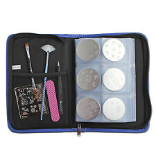 Winstonia Blue Envy Nail Art Stamping Plate Organizer Holder Zipper Case Book US