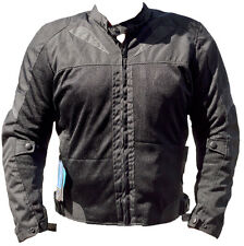 BLACK ASH MENS MOTORCYCLE TEXTILE MESH ARMOR JACKET BLACK MEDIUM