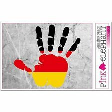 Deutschland - Hand Palm Finger Print Aufkleber Flag Sticker Motiv Germany Fahne