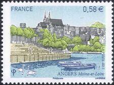 France 2011 angers/cathédrale/bâtiments/architecture/tourisme/cygnes/bateau 1v n45289