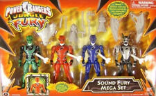 Power Rangers Jungle Fury Sound Mega Set  Bat  Red Tiger, Shark Green Elephant