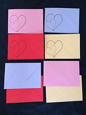 Coloured Envelopes C6, With 2 Hearts,16.2x11.6cm, Valentines Birthday, (80gsm)