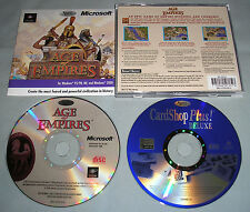 Age of Empires 1 - Original PC Computer CD Video Game Smart Saver in Case+Bonus!