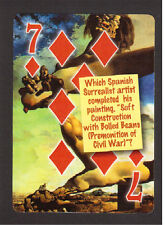 Salvador Dali Soft Construction with Boiled Beans  Neat Playing Card #6Y3