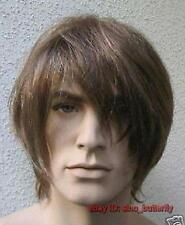 Men's Brown healthy short hair Cosplay Costume ,Fancy Dress Wigs + free wig cap