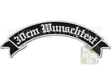 Rückenaufnäher Wunschtext BikerPatch Kutte Aufnäher MC Schleife oben 30cm stick