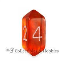 NEW Crystal Caste D4 Transparent Orange Die D&D RPG Gaming Dice