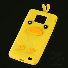 Samsung Galaxy S2 i9100 Silikon Case Schutz Hülle Etui Cover Chicken Gelb