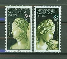 ALEMANIA/RDA EAST GERMANY 1989 MNH SC.2750/51 Sculptures by J.G.Schadow