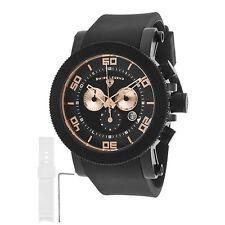 Swiss Legend Para Hombre Cuarzo Reloj 30465-bb-01-ra Acero Inoxidable Funda Correa De Goma