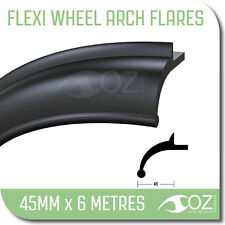 Rubber flares 4x4 flexible 45mm x 6m metres mud guard flares toyota nissan