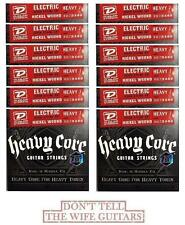Dunlop DHCN1060 Heavy Core 7 String 10-60 Guitar Strings 12 Sets Ibanez Schecter
