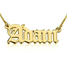 "24k Gold Plated Personalized ""English Style"" Name Necklace"