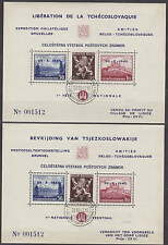 CZECHOSLOVAKIA - 1945 EXIL SHEETS BRUSSEL - LIDICE - **MNH**