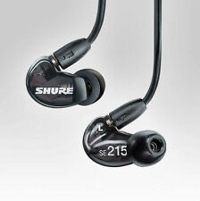 SHURE SE215-K Black Sound Isolating In-Ear DJ Monitoring Earphones Headphones