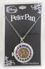 New Disney Peter Pan Off To Neverland Galaxy Locket Pendant Necklace Tinker Bell