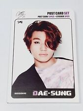 Daesung Dae Sung BIGBANG Postcard Set + Sticker YG Family KPOP Post Card K-POP