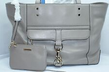 Rebecca Minkoff Bowery Tote Bag Taupe Shoulder Handbag Womens Leather NWT