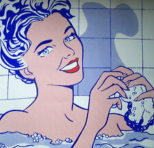 roy lichtenstein woman in the bath sérigraphie