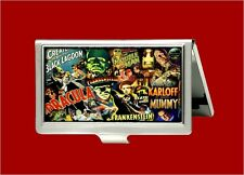 DRACULA FRANKENSTEIN CLASSIC HORROR MOVIE VINTAGE ID BUSINESS CARD HOLDER CASE
