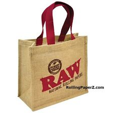 RAW Rolling Papers BURLAP Carry All TOTE BAG - Limited Edition RAW Collectible