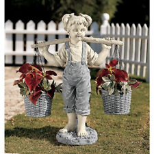 Flowers For Felicity Little Girl Garden Statue Lovingly Crafted Resin Sculpture