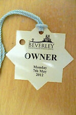 PASS/TICKET- 2012 BEVERLEY RACECOURSE & EVENTS CENTRE PASS (Owners) 7 May 2012
