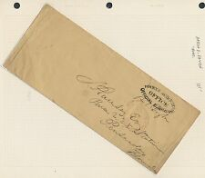 AARON D. DAYTON (TREASURER) ON NORTH AUDITOR'S OFFICE STAMPLESS COVER BR3233