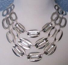 Chico's Jewelry Bailey Multi Strand Choker Necklace in Silver RV$59