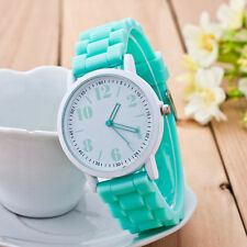 Unisex Children Students Watch Silicone Casual Sports Analog Quartz Wristwatches