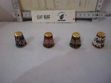Fingerhüte 4 pc Glass Porcelain Hutschenreuter Oakley Bone China Thimbles gloves