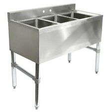 3 Compartment Stainless Steel Sink Commercial Kitchen Restaurant Sinks Equipment