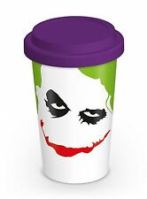 The Joker Thermal Travel Mug Cup With Silicone Lid Novelty Gift DC Villain Smile